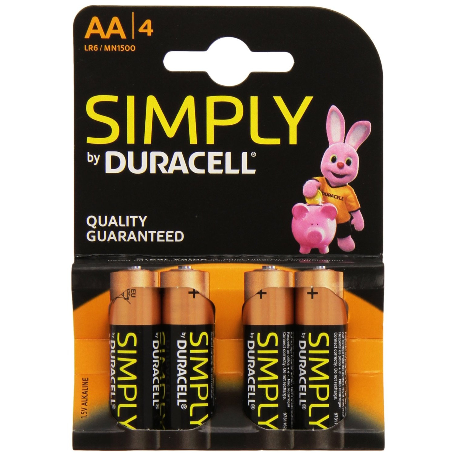 DURACELL SIMPLY ALKALINE AA/4